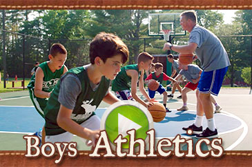 Summer camp boys athletics video