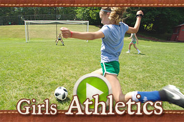 Summer camp girls athletics video