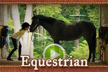 Summer camp horseback riding equestrian video