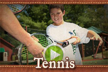 Summer camp tennis program video