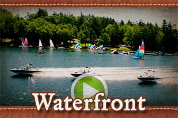 Waterfront at Camp Laurel in Maine