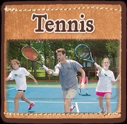 Tennis program at Camp Laurel in Maine