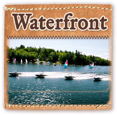 Waterfront and lake program at Camp Laurel in Maine