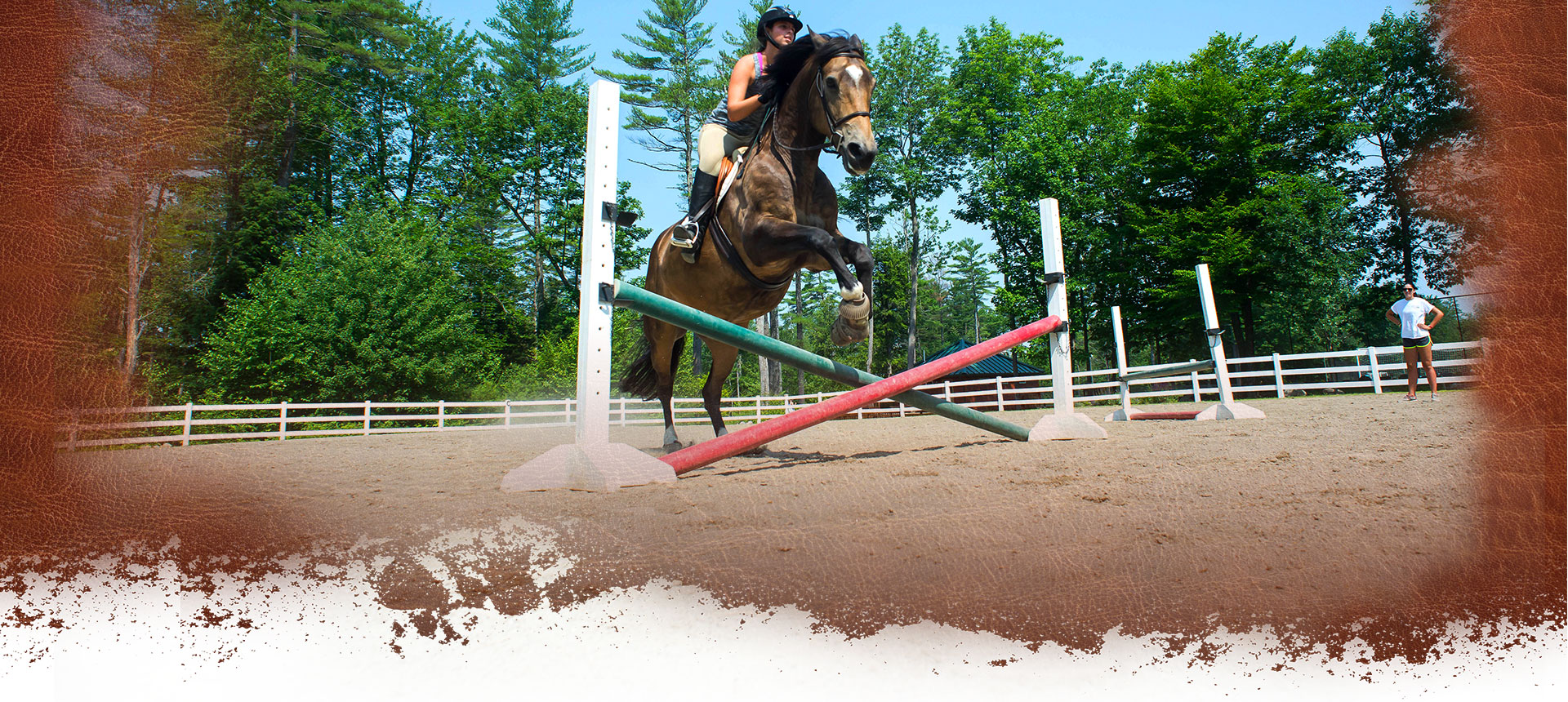 Equestrian horseback riding program at Camp Laurel in Maine