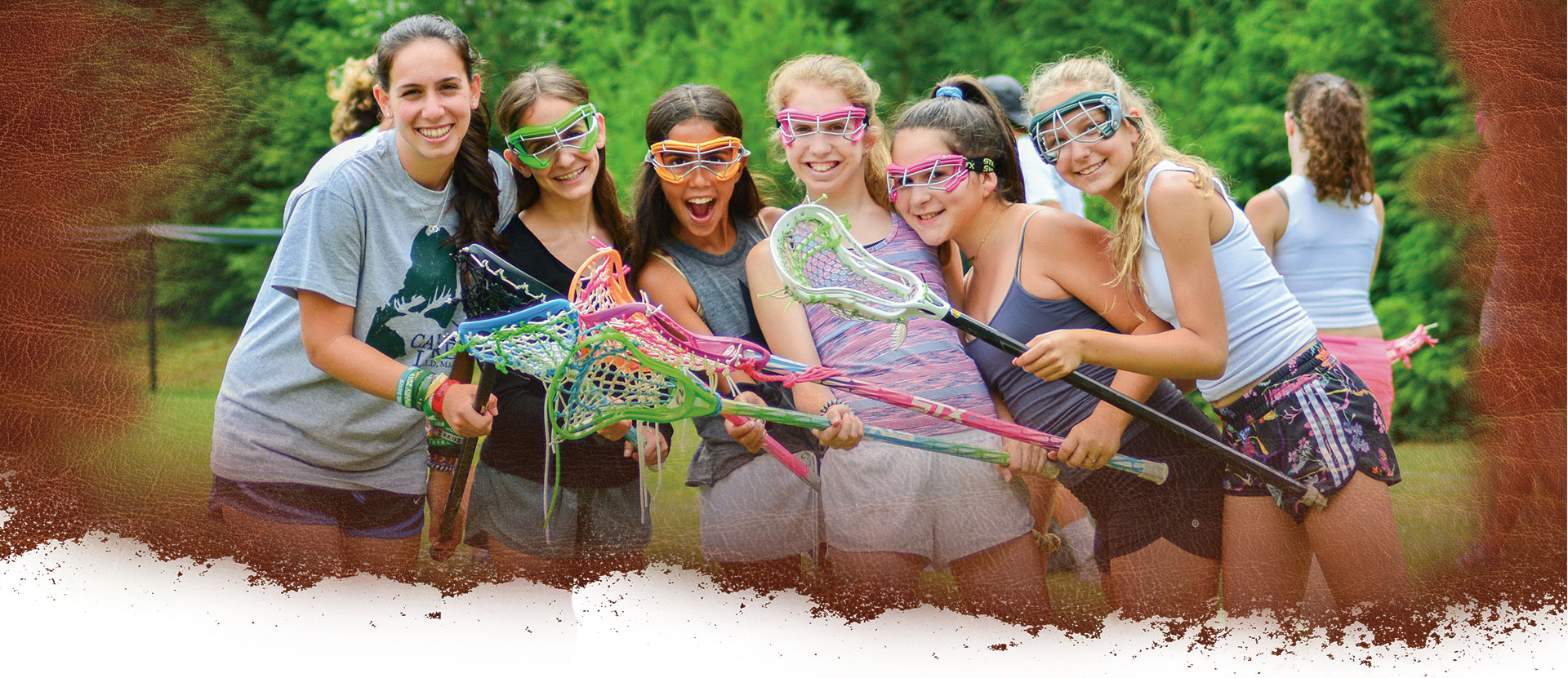 Girls sports and athletics at summer camp in Maine